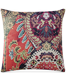 "CLOSEOUT! Tracy Porter Fiona Velvet 18"" x 18"" Square Decorative Pillow"