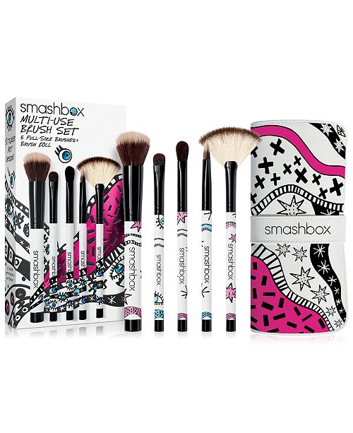 Smashbox 6 Pc Drawn In Decked Out Multi Use Brush Set Created