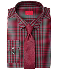 Alfani Men's Plaid Dress Shirt & Solid Tie, Created for Macy's