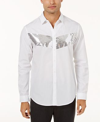I.N.C. Men's Sequin Chest Shirt, Created for Macy's