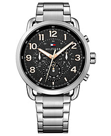Tommy Hilfiger Men's Chronograph Stainless Steel Bracelet Watch 46mm