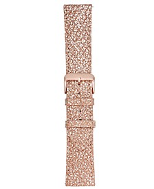 Smart Buddie Platinum Rose Metallic Leather Strap for use with 22mm Smart Watch
