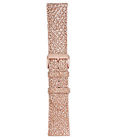 VogueStrap Smart Buddie Platinum Rose Metallic Leather Strap for use with 22mm Smart Watch