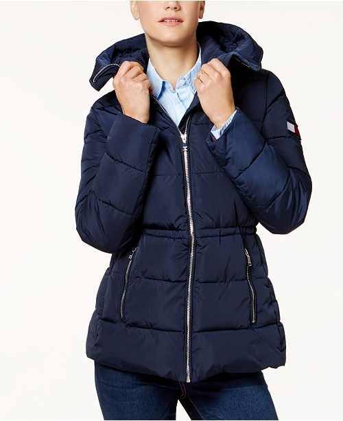 ea3b05289daa0 Tommy Hilfiger Hooded Puffer Coat   Reviews - Coats - Women ...