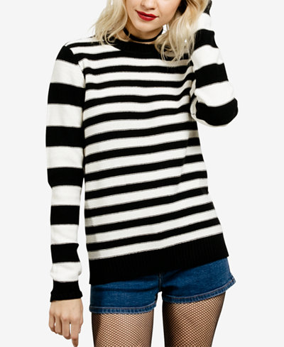 Volcom Juniors' Striped Cotton Sweater - Juniors Sweaters - Macy's