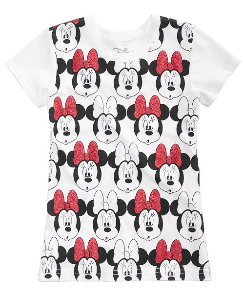 8f0cce04 Disney Minnie Mouse Cotton T-Shirt, Toddler Girls & Reviews - Shirts ...