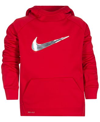 Nike Therma Training Hoodie, Little Boys - Sweaters - Kids & Baby ...