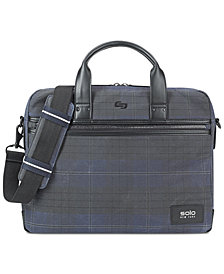 Solo Men's Bryce Printed Waxed-Cotton Briefcase