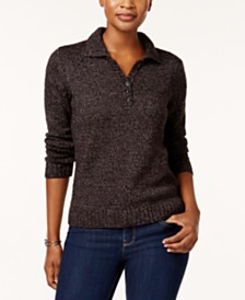 Karen Scott Marled Button Sweater, Created for Macy's