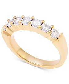 Diamond Band (1/4 ct. t.w.) in Sterling Silver or 14k Gold over Sterling Silver