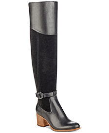 Marc Fisher Eisa Over-The-Knee Block-Heel Boots