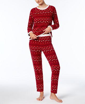 Ande Fleece-Trimmed Pajama Set