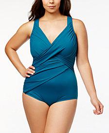 Miraclesuit Plus Size Revele Underwire Tummy Control One-Piece Swimsuit