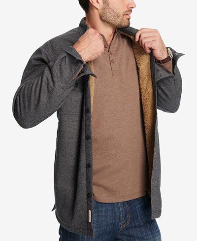 Weatherproof vintage men 39 s fleece lined shirt jacket for Weatherproof vintage men s lightweight flannel shirt