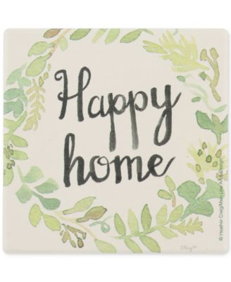 Wreath Happy Home Coaster