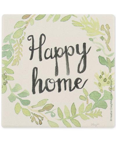 Thirstystone Wreath Happy Home Coaster