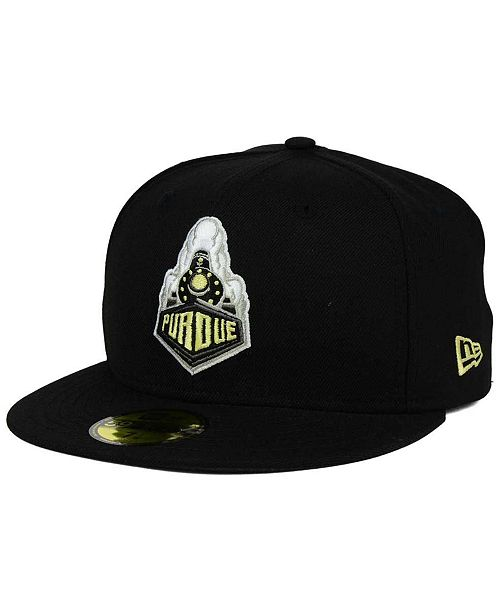 size 40 86397 7fa90 ... New Era Purdue Boilermakers AC 59FIFTY Fitted Cap ...