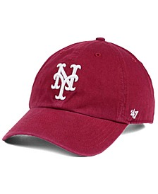 New York Mets Cardinal and White CLEAN UP Cap