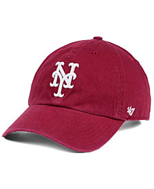 '47 Brand New York Mets Cardinal and White CLEAN UP Cap