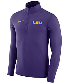 Nike Men's LSU Tigers Element Quarter-Zip Pullover