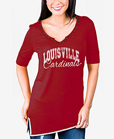 Gameday Couture Women's Louisville Cardinals Beaded Neckline T-Shirt
