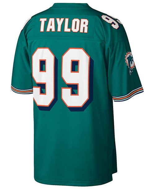 online store b3da2 0f52c Men's Jason Taylor Miami Dolphins Replica Throwback Jersey