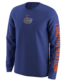 Nike Men's Florida Gators Fresh Trainer Hook Long Sleeve T-Shirt