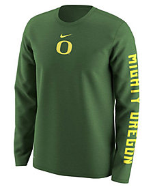 Nike Men's Oregon Ducks Fresh Trainer Hook Long Sleeve T-Shirt