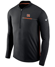 Nike Men's Cincinnati Bengals Coaches Quarter-Zip Pullover