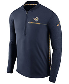 Nike Men's Los Angeles Rams Coaches Quarter-Zip Pullover