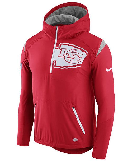 64e5f4ab Nike Men's Kansas City Chiefs Lightweight Fly Rush Jacket & Reviews ...