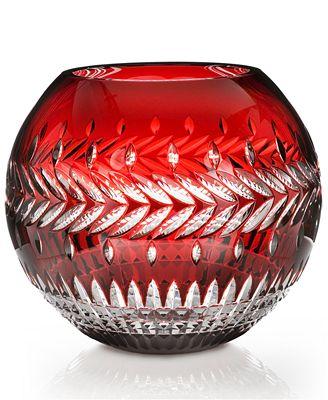 Waterford Rose Bowl Vase Fleurology Meg Ruby Cased 12 Bowls