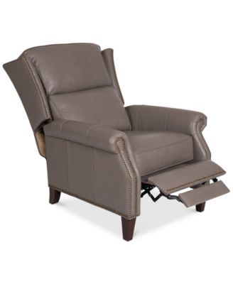 Anguria Pushback Leather Recliner. Furniture