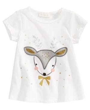 First Impressions DeerPrint TShirt Baby Girls (024 months) Created for Macys