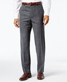 Lauren Ralph Lauren Men's Classic-Fit Ultraflex Gray Windowpane Suit Pants