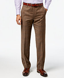Lauren Ralph Lauren Men's Classic-Fit Ultraflex Brown Plaid Flannel Suit Pants