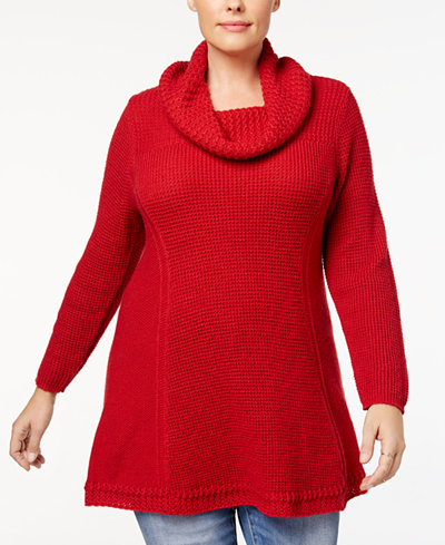 Style & Co Plus Size Cowl-Neck Tunic, Created for Macy's ...