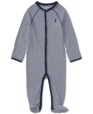 Ralph Lauren Baby Boys Striped Cotton Coverall