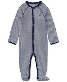 Ralph Lauren Striped Cotton Coverall, Baby Boys