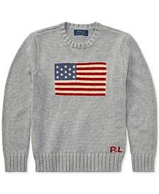 Polo Ralph Lauren Big Boys Flag Intarsia Cotton Sweater