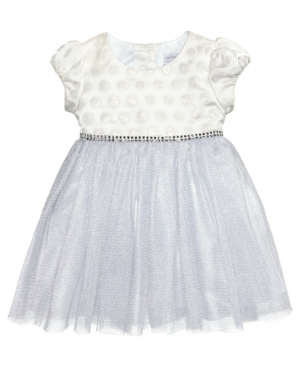 Sweet Heart Rose Jacquard  Mesh Dress Baby Girls (024 months)