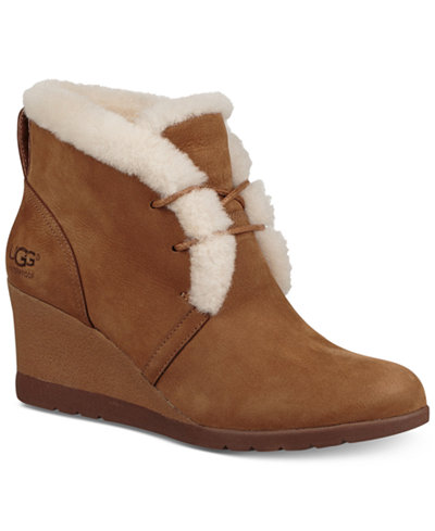 UGG® Women's Jeovana Wedge Lace-Up Booties