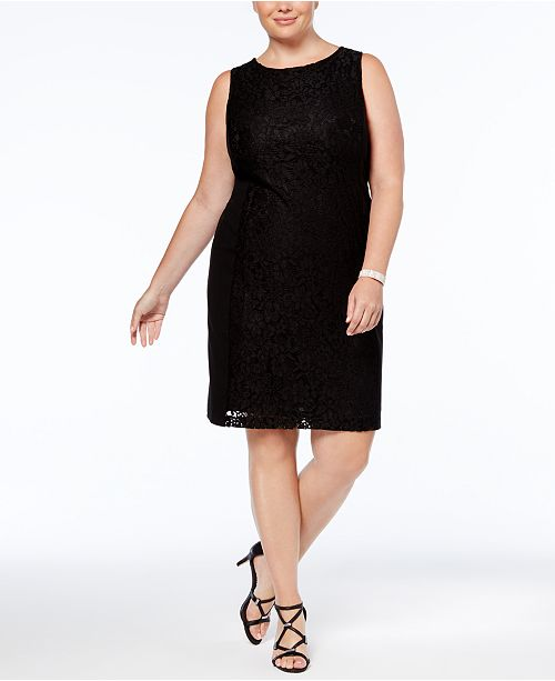 Nine West Plus Size Lace Sheath Dress - Dresses - Women - Macy s c0d338851