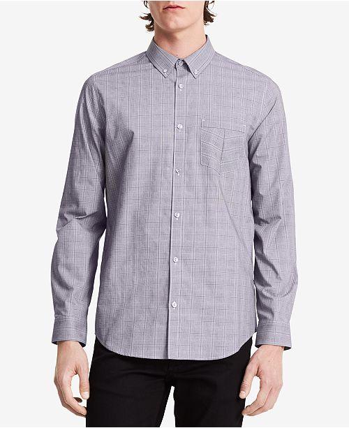 Calvin Klein Men's Infinite Non-Iron Check-Print Shirt