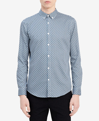 Calvin Klein Men's Dobby Slim-Fit Shirt