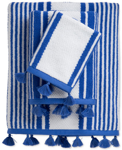 Caro Home Stand Up Cotton Stripe Bath Towel Collection