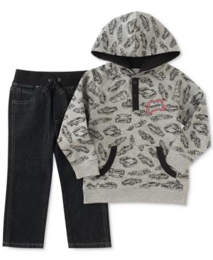 Kids Headquarters 2Pc CarPrint Hoodie  Jeans Set Toddler Boys (2T5T)