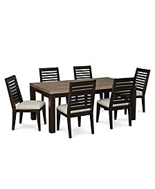 Lexington Dining Furniture, 7-Pc. Set (Leg Table & 6 Side Chairs)