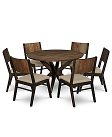 Ashton Round Pedestal Dining 7-Pc. Set (Round Pedestal Dining Table & 6 Side Chairs)