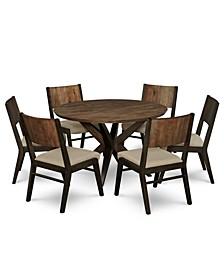 Ashton Round Pedestal Dining 7-Pc. Set (Round Pedestal Dining Table & 6 Side Chairs)